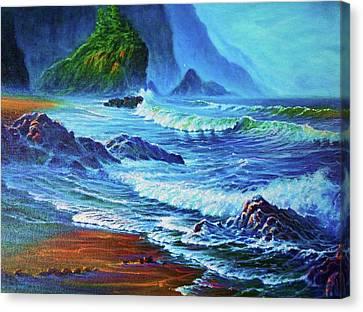 Morning Surf Oregon Canvas Print by Joseph   Ruff