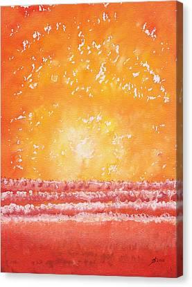 Morning Surf Original Painting Canvas Print