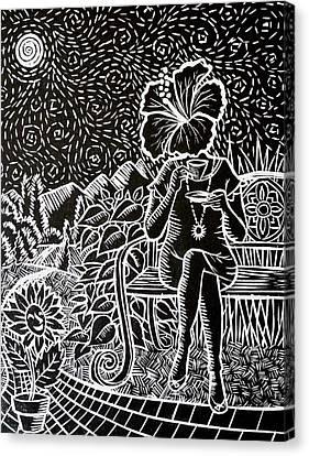 Morning Tea Enjoyment Canvas Print by Natasha Junmanee