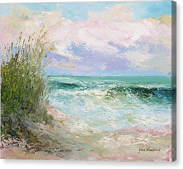 Morning Tide Canvas Print by Jane Woodward