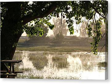 Canvas Print featuring the photograph Morning Tranquility  by Christy Pooschke