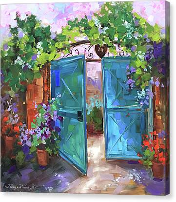 Morning Vieux Canvas Print by Nancy Medina