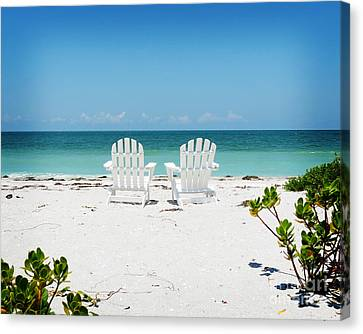 Chair Canvas Print - Morning View by Chris Andruskiewicz