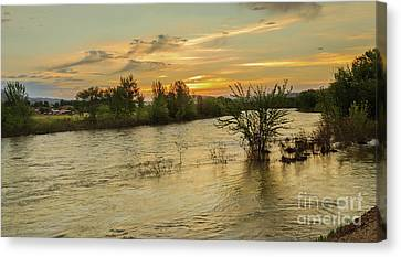 Morning View Of The Payette River Canvas Print by Robert Bales