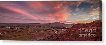 Morning View Over Emmett Valley Canvas Print by Robert Bales