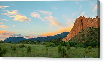 Canvas Print featuring the photograph Morning View by Tim Reaves
