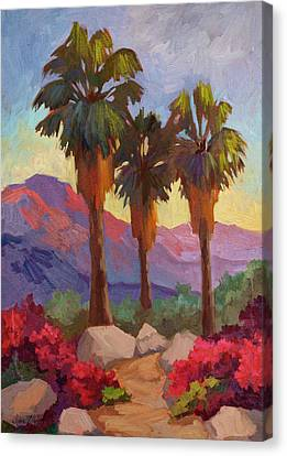 Palm Springs Canvas Print - Morning Walk by Diane McClary
