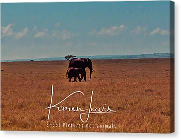 Canvas Print featuring the photograph Morning Walk by Karen Lewis