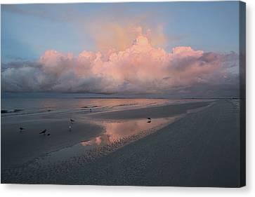 Canvas Print - Morning Walk On The Beach by Kim Hojnacki
