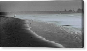 Canvas Print featuring the photograph Morning Walk by Ron Dubin