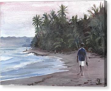 Morning Walk Canvas Print by Sarah Lynch