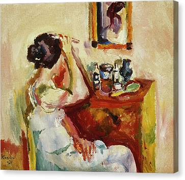 Dressing Room Canvas Print - Morning Wash by Ludwig Karsten