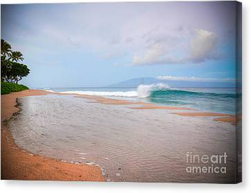 Canvas Print featuring the photograph Morning Wave by Kelly Wade
