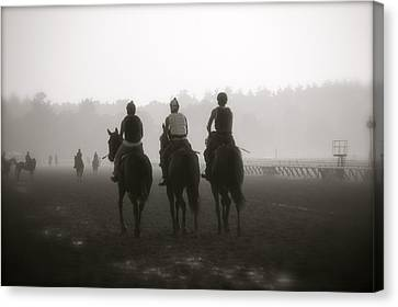 Morning Workout Saratoga Ny Canvas Print by Amanda Lonergan
