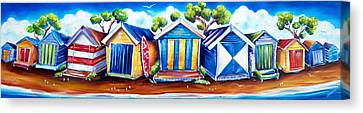 Mornington Beach Huts Canvas Print