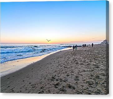 Canvas Print featuring the photograph Moro Sunset by Anthony Baatz