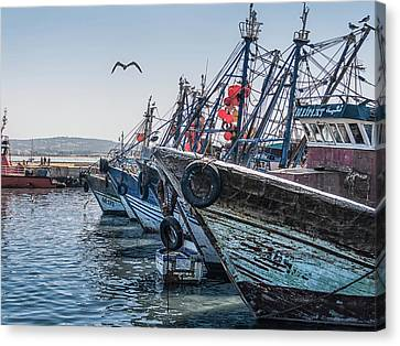 Moroccan Fishing Boats Canvas Print