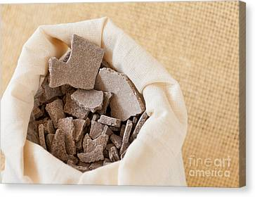 Moroccan Lava Clay Dried Chips Canvas Print by Arletta Cwalina