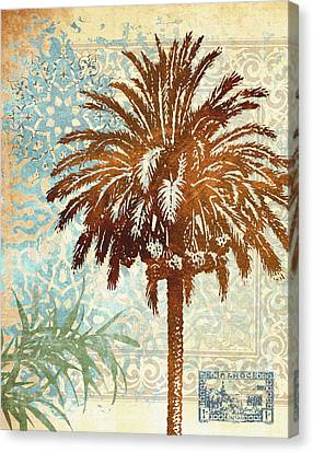 Middle East Canvas Print - Moroccan Palms 2  by Malcolm  Watson