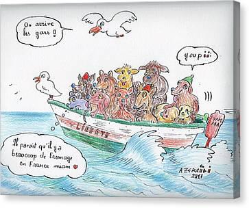 Moroccan Canvas Print - Moroccan Refugees Like No Other by ZERAIDI Abdellatif