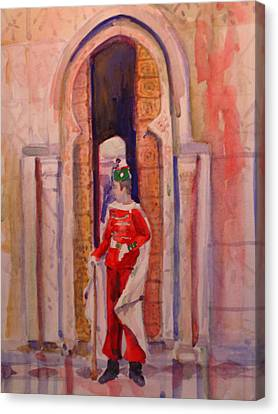 Moroccan Soldier Canvas Print by Joyce Kanyuk