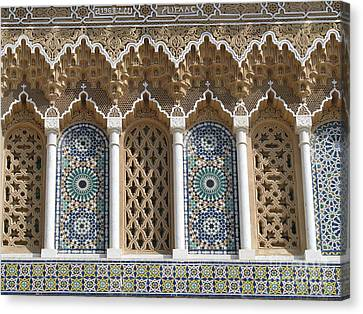 Canvas Print featuring the photograph Moroccan Tile by Erik Falkensteen