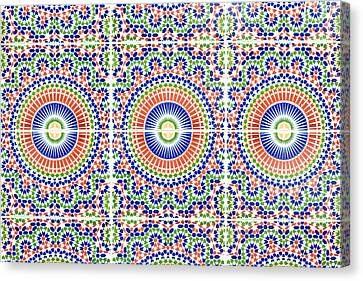 Moroccan Tiles Canvas Print by Tom Gowanlock