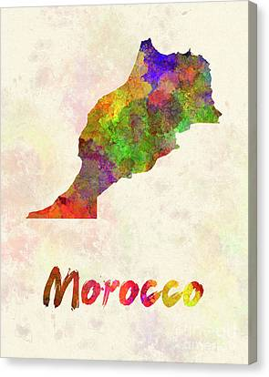Morocco In Watercolor Canvas Print