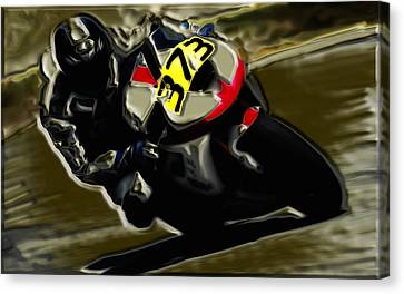 Mororcycle Racing 7a Canvas Print