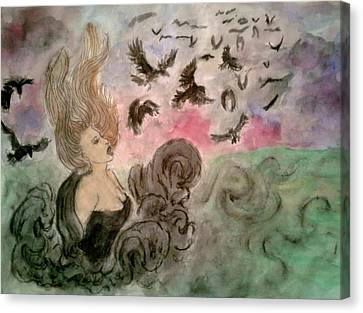 Morrighan Canvas Print by Jennie Hallbrown