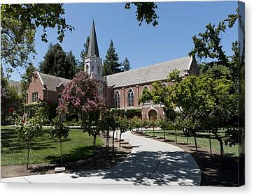 Morris Chapel - University Of The Pacific Canvas Print by Mountain Dreams