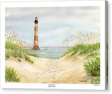 Morris Island Light House Canvas Print by Lane Owen