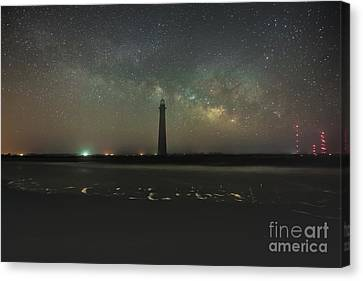 Morris Island Light House Milky Way Canvas Print