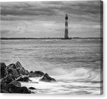Morris Island Lighthouse Canvas Print by Brian Young