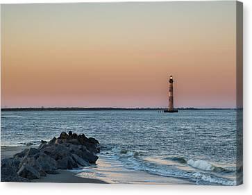 Morris Island Lighthouse Canvas Print by Drew Castelhano