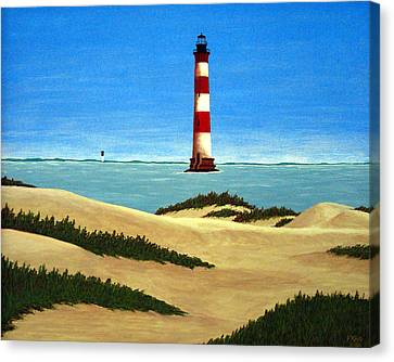 Morris Island Lighthouse Canvas Print by Frederic Kohli