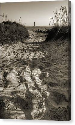 Morris Island Lighthouse Pathway Canvas Print by Dustin K Ryan