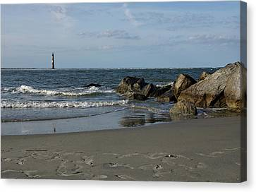 Canvas Print featuring the photograph Morris Lighthouse by Sandy Keeton