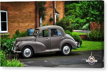Canvas Print featuring the photograph Morris Minor by Pennie  McCracken