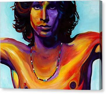 Jim Morrison . Legend Canvas Print - Morrison by Vel Verrept