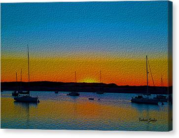 Morro Bay Abstract Sunset  Canvas Print by Barbara Snyder