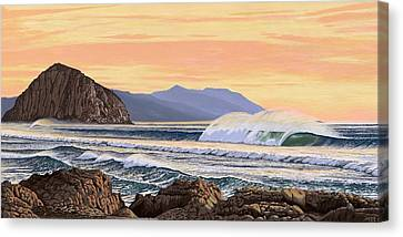 Morro Bay California Canvas Print by Andrew Palmer