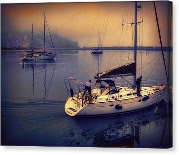 Canvas Print featuring the photograph Morro Bay Dawn by Douglas MooreZart