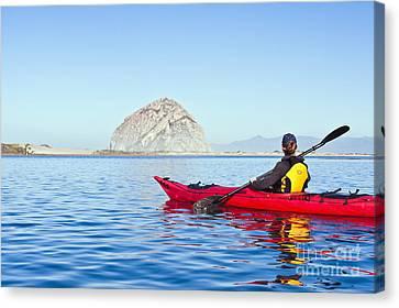 Morro Bay Kayaker Canvas Print by Bill Brennan - Printscapes