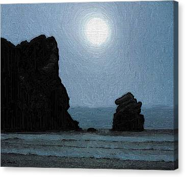 Morro Bay Rock Canvas Print by Joe Bonita