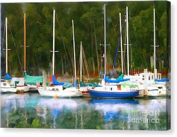 Morro Bay Sail Boats Canvas Print