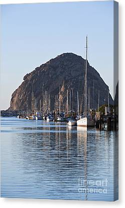 Morro Bay Sailboats Canvas Print by Bill Brennan - Printscapes