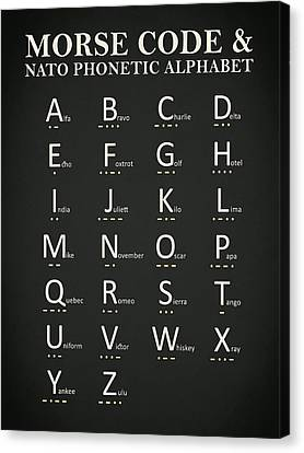 Morse Code And Phonetic Alphabet Canvas Print
