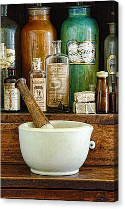 Mortar And Pestle Canvas Print by Jill Battaglia
