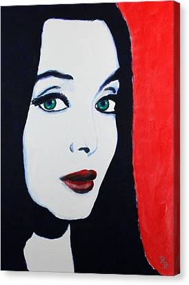 Morticia Addams Canvas Print by Bob Baker